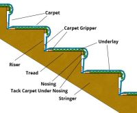 Gripper, underlay and carpet layed on stairs | Future Home ...