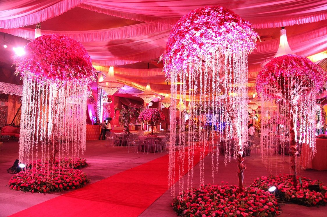Floral Wedding Décor The Big Fat Indian Wedding Pinterest