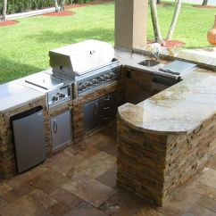 Outdoor Kitchen Ideas For Small Spaces Polished Brass Faucets Kitchens And Bbq Island On