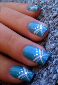 Cute Blue Nail Art Design Ideas | Nails | Pinterest | Blue ...