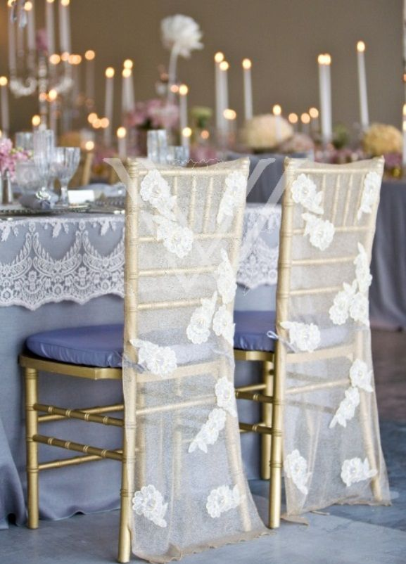 elegant chair covers and wedding decor glass kitchen table chairs lace reception cover decoration | by wildflower linen dress my ...
