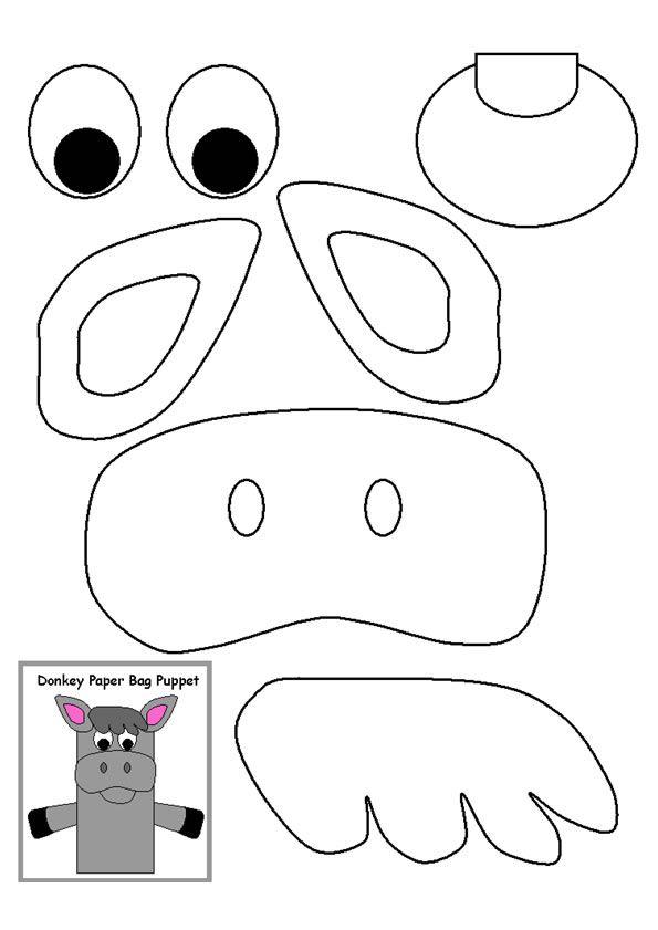 Paper bag donkey for Balaam's Talking donkey