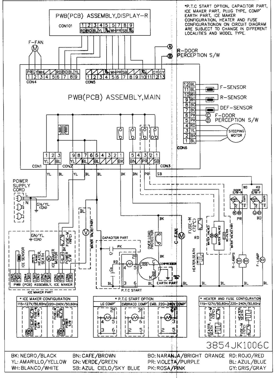 Godrej Double Door Refrigerator Wiring Diagram