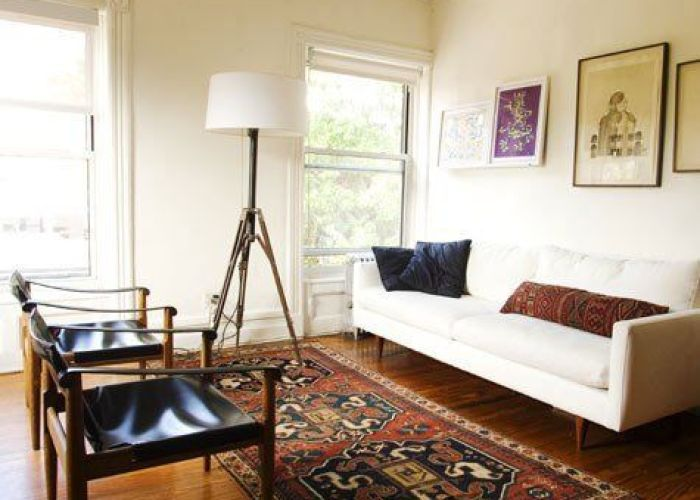 also complementary contrasts oriental rugs and kilims with modern decor