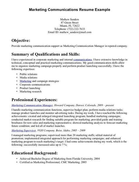 Communication Skills For Resume Examples - Examples of Resumes