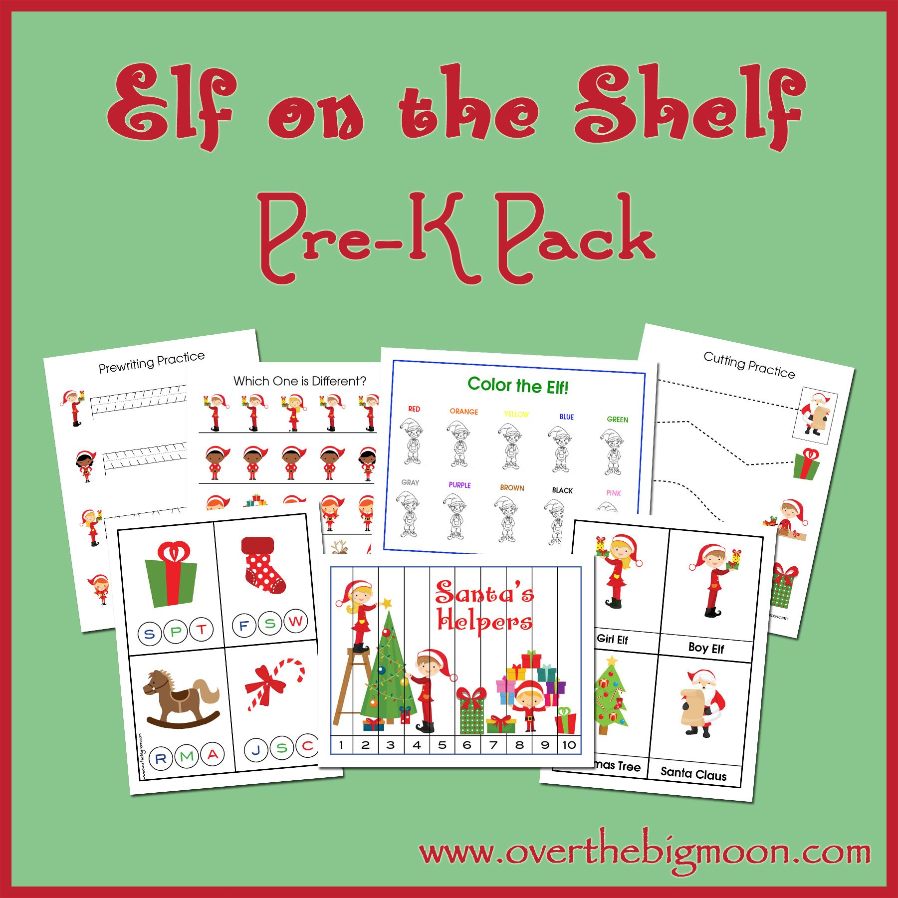Free Elf On The Shelf Pre K Pack In This Pre K Pack