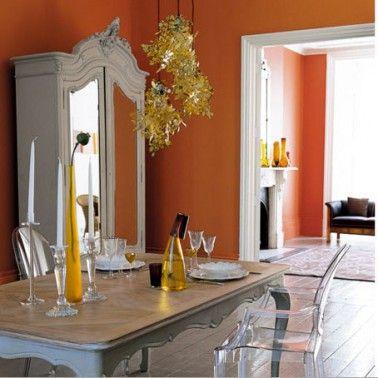 Also Deco Salle Manger Salon Peinture Grise Et Orange Rh Za Pinterest