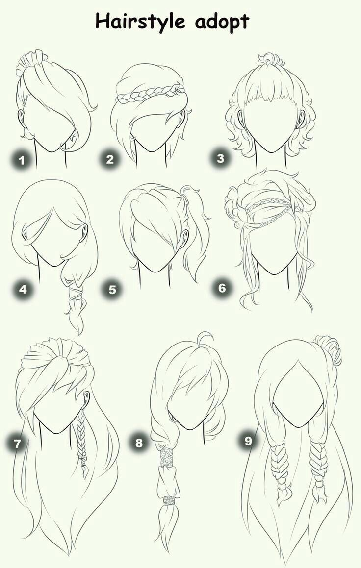 Hairstyle Adopt Text Woman Girl Hairstyles; How To Draw Manga
