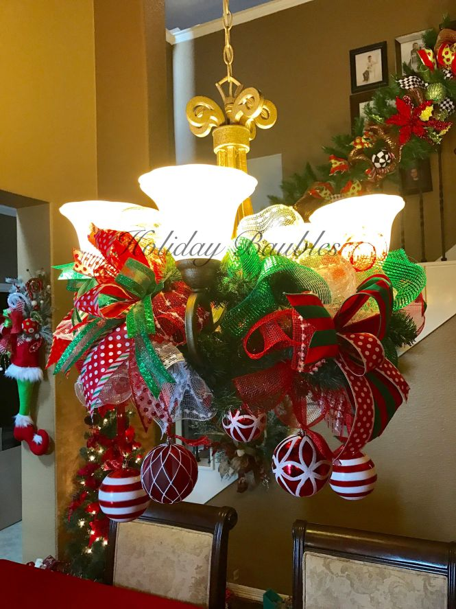 Chandelier Garland By Holiday Baubles
