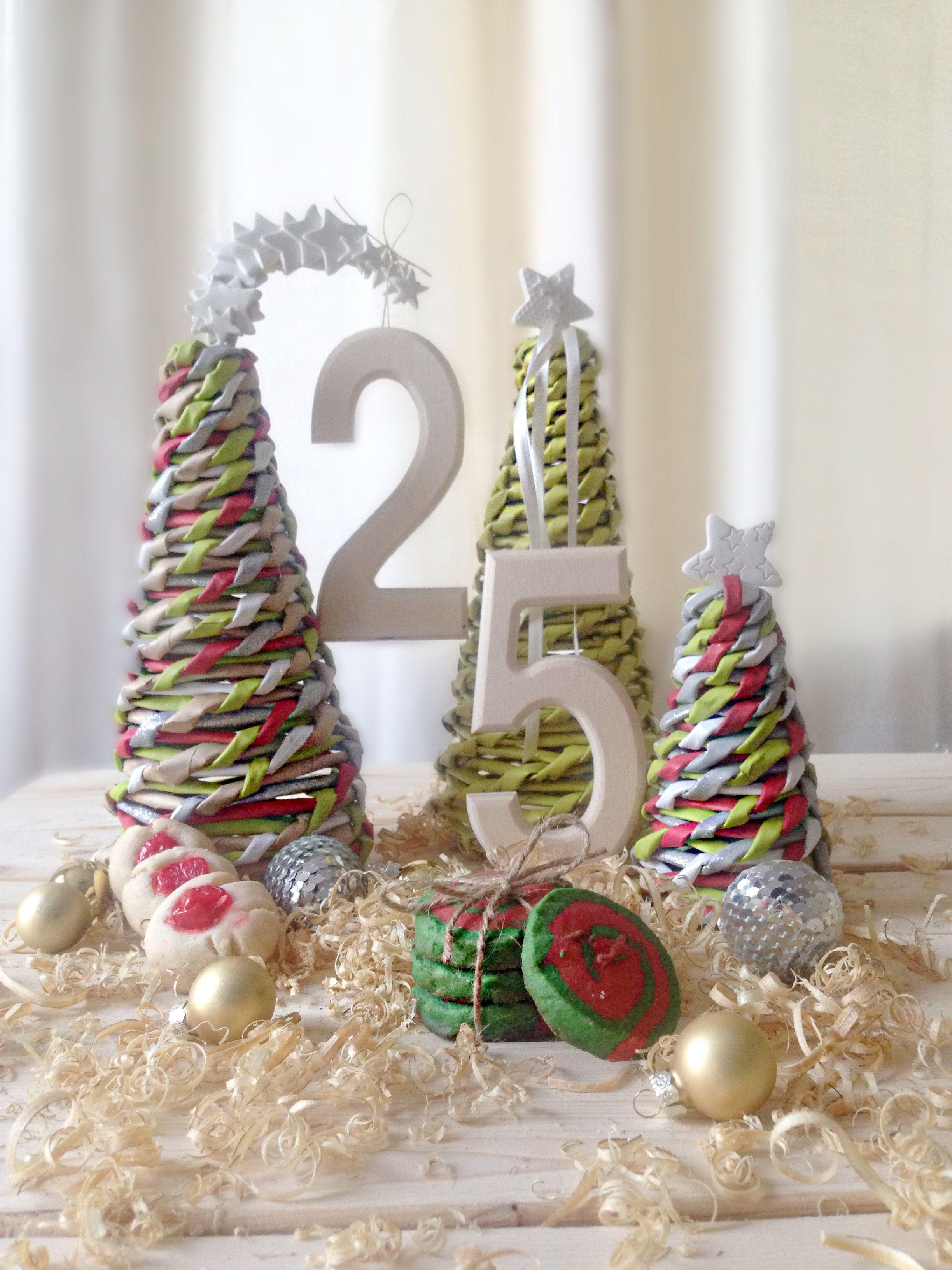Feliz Navidad Arbolitos De Navidad Reciclados Hechos