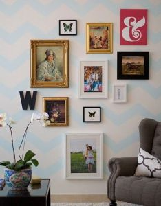 Gallery wall also for the home pinterest chevron eclectic rh