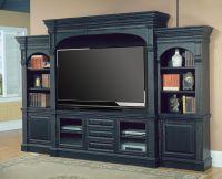black wall entertainment center | ... Venezia 77 ...