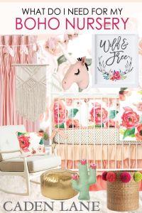 Everything you need for an adorable boho girl nursery ...