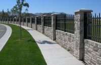 Privacy Fencing - Concrete Walls with Realistic Stone ...
