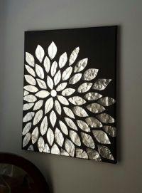 DIY wall art. Blank canvas, aluminum foil, and mod podge ...