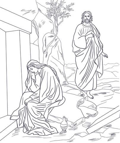 Jesus Appears to Mary Magdalene after Resurrection