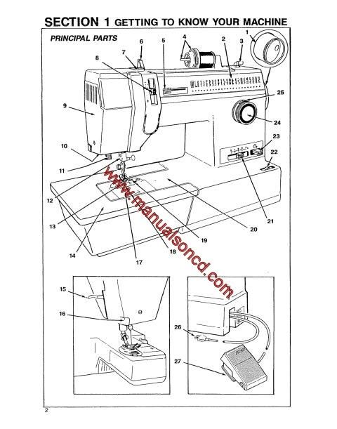 Singer 9134 Sewing Machine Instruction Manual. 44 page
