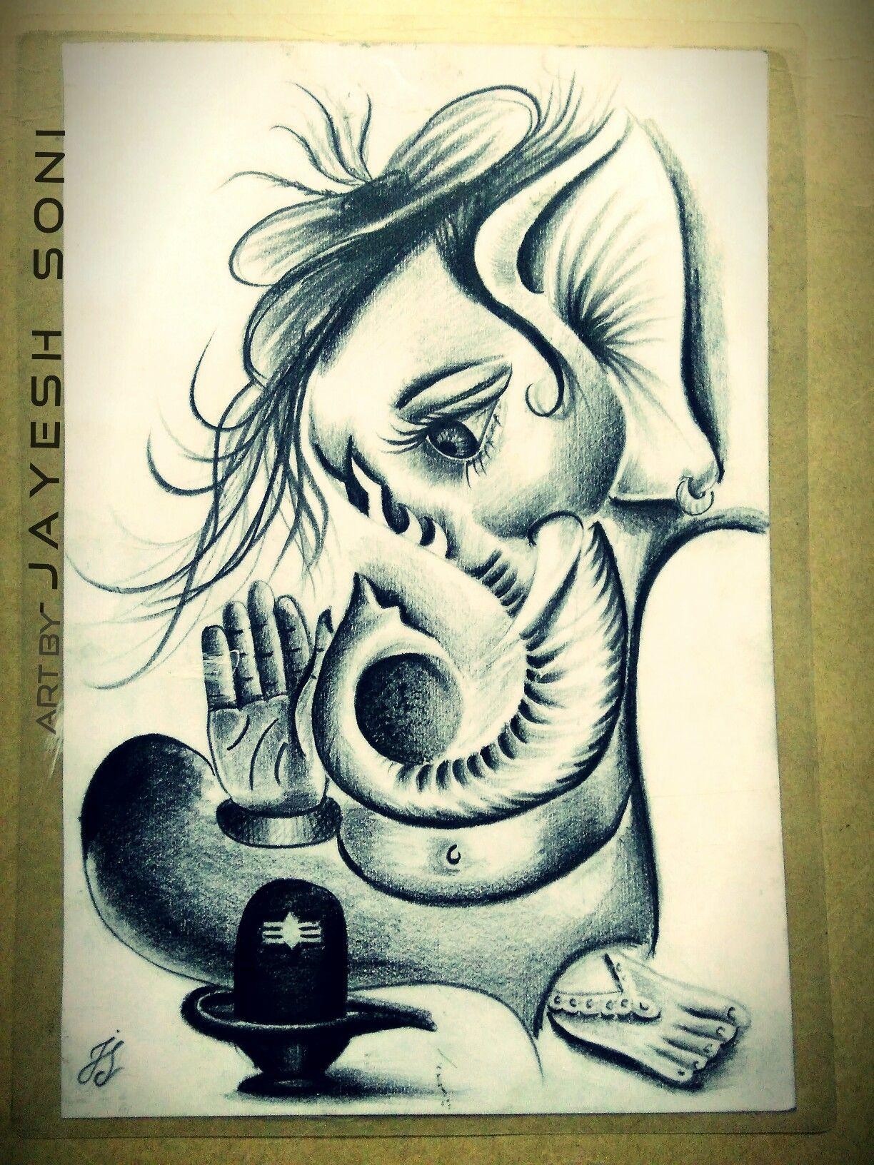 Lord ganesha pencil sketch pixshark images