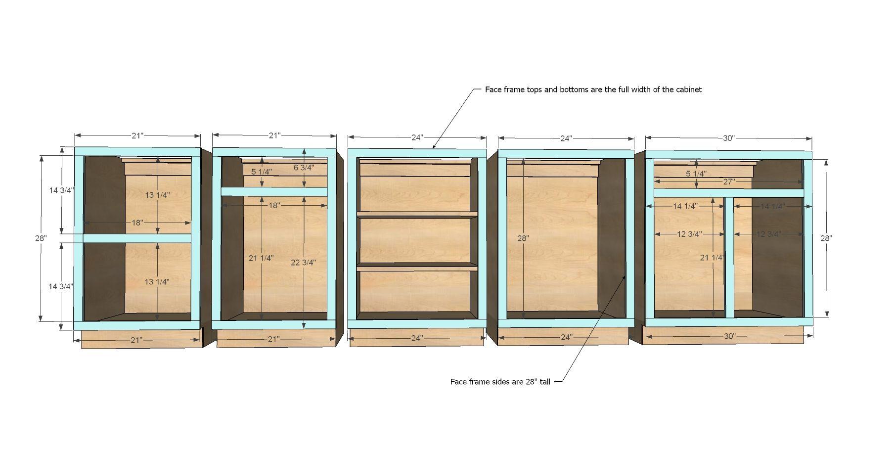Ana White  Build a Face Frame Base Kitchen Cabinet