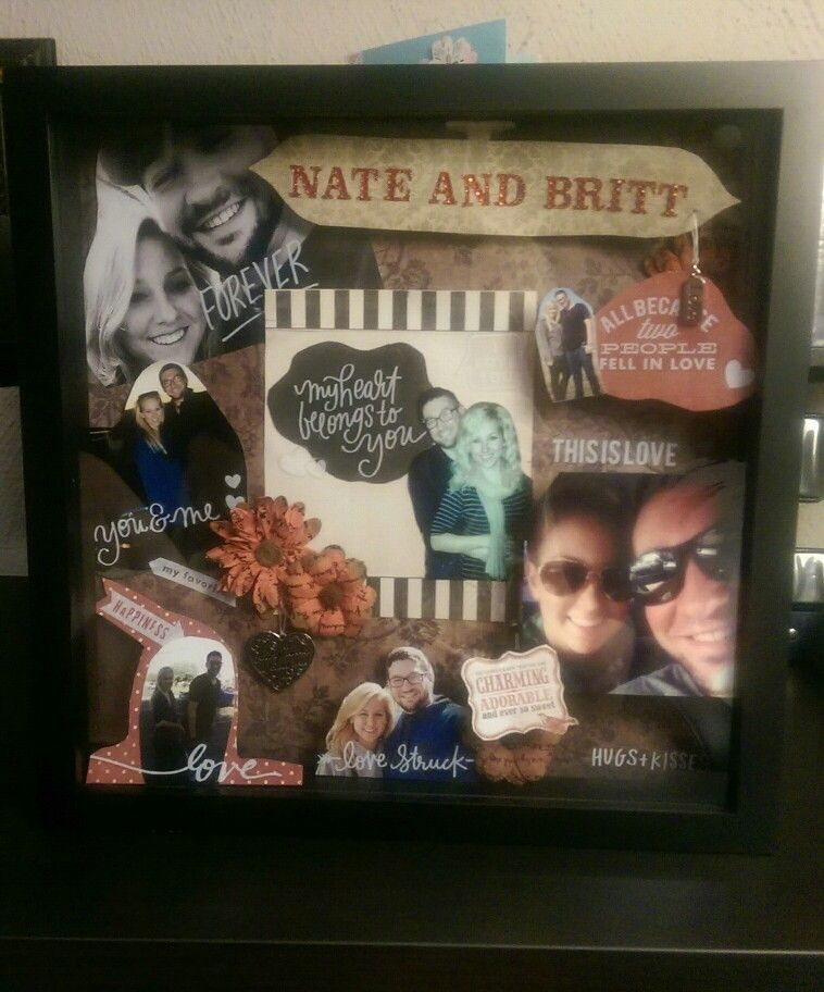Shadow Box Idea For Boyfriend This Is One I Made For Our