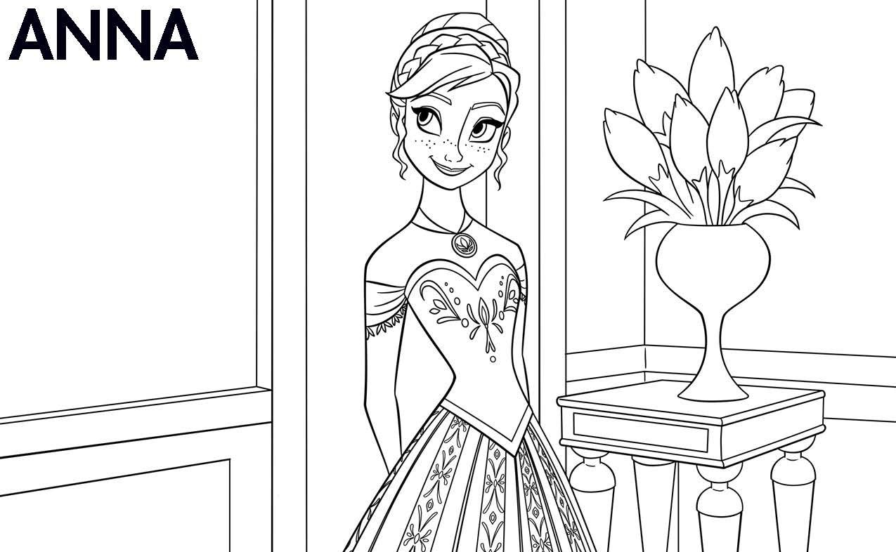Free Disney Frozen Printable Coloring Pages