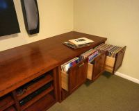 Custom audio/video and vinyl record storage cabinet ...