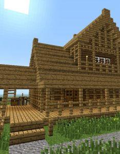 Minecraft how to build little wooden house nd floor also rh pinterest
