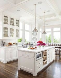 want these cabinets in my kitchen love the look and color contrast of this also rh pinterest