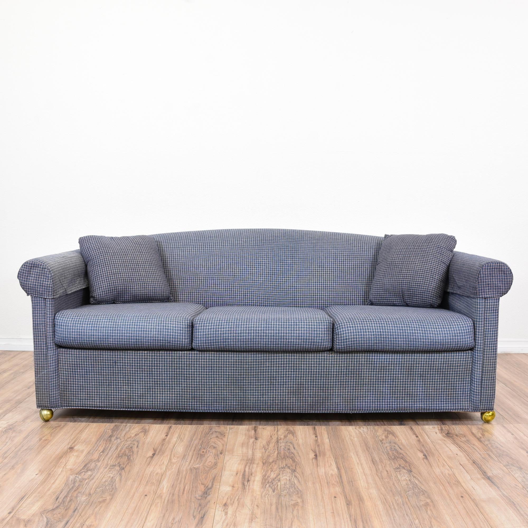 beach print sleeper sofas twin sofa chair target contemporary blue and white
