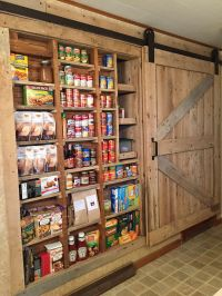 Between the Studs Pantry with Barn Door | Pantry ...