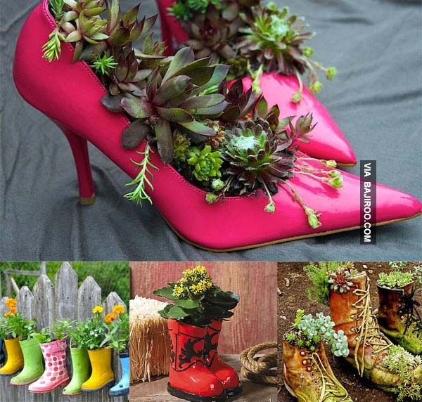 30 Fascinating Low Budget DIY Garden Pots Gardens Olds And Rain!