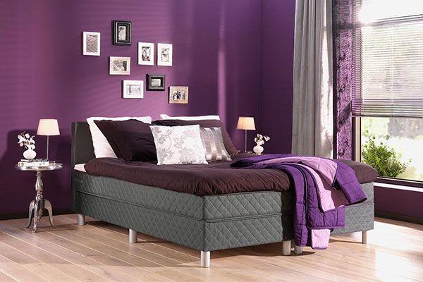paarse romantische slaapkamer  Paars inspiratie