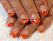 orange real tree camo nails pink