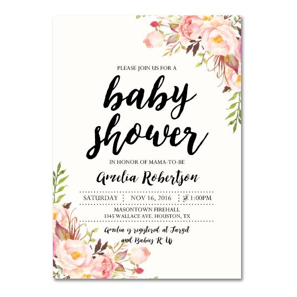 Editable PDF Baby Shower Invitation DIY  Elegant Vintage