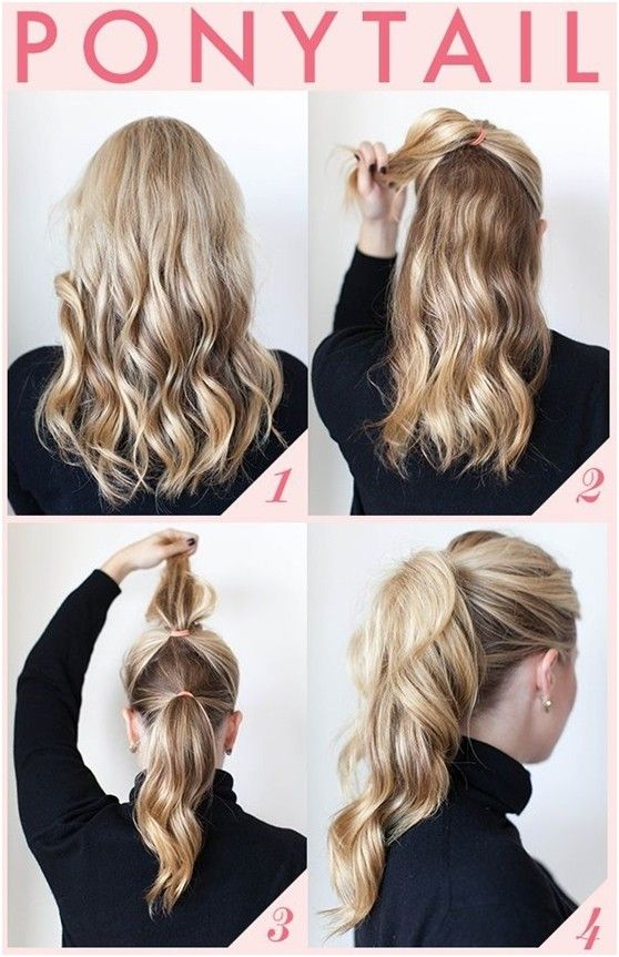 15 Cute And Easy Ponytail Hairstyles Tutorials Pony Tails