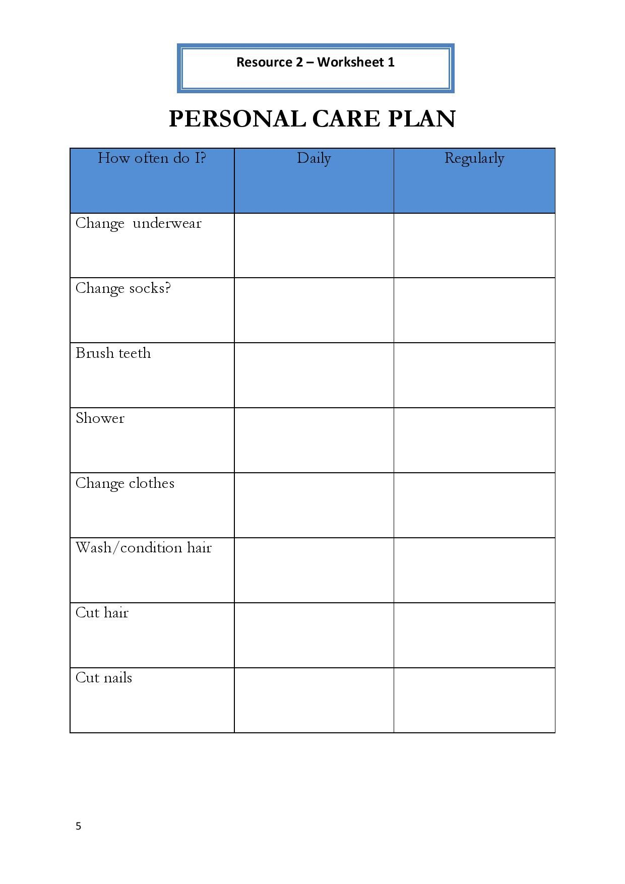 Printables Hygiene Worksheets For Elementary Students