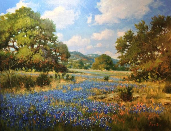 """ Rock Springs"" - Original Fine Art David Forks Paintings"