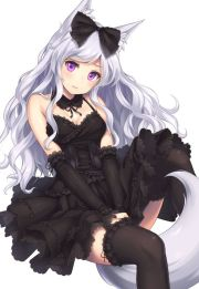 gothic lolita kitsune girl anime