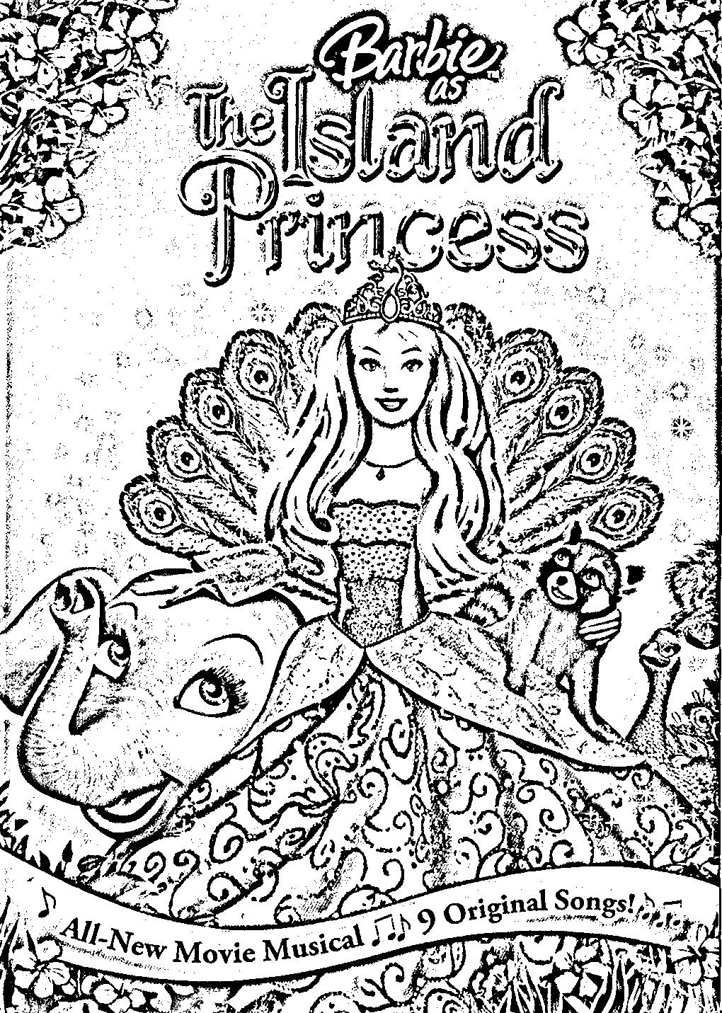 Barbie Island Princess Coloring Pages Barbie Coloring