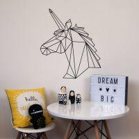 Geometric Unicorn Wall Sticker | Wall sticker, Unicorns ...