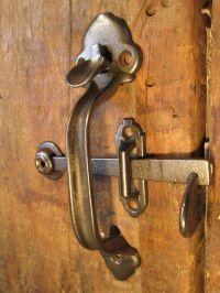 ANTIQUE BARN DOOR HANDLE THUMB LATCH SET in Antiques ...