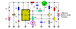 Portable Cellphone Battery Charger Circuit Diagram P1