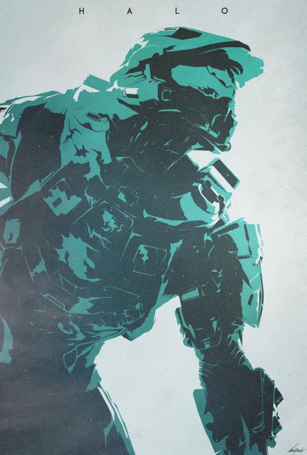 Master Chief Halo Game Poster - Year of Clean Water