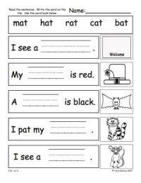 Cvc Worksheets Kindergarten Free Worksheets Library ...