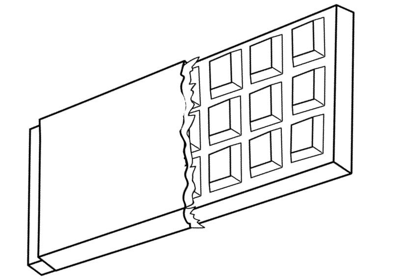 Candy Wrapper Page Coloring Pages