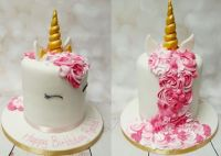 fondant torte kindergeburtstag feiern einhorn motiv ...