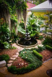 love this water fountain w/gravel, fir fiber mulch and ...