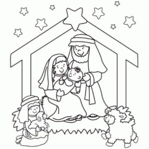 Free Printable Nativity Scene Patterns Online Christmas Printables