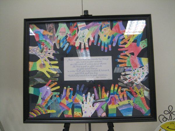 Child' Hand Brightly Colored And Inspirational