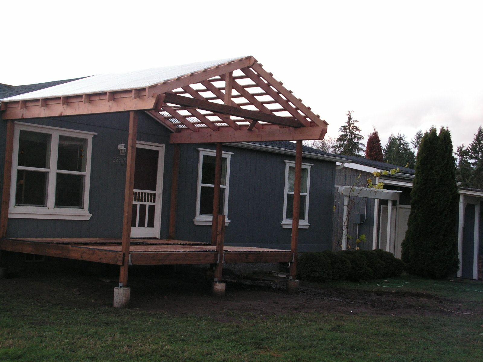 Adding A Front Porch To A Ranch Style Home Porch Progress